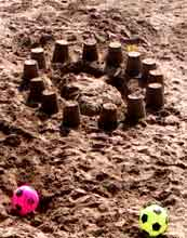Weston Beach sandcastle